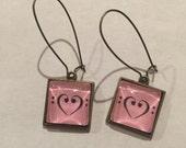 Bass Clef Heart Earrings