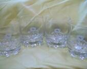 Vintage Barware Crown Royal Glasses Cocktail Lowball Whiskey Bourbon Barware Glasses circa 1970