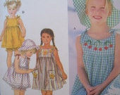 Sundress, Top, Bloomers & Hat Pattern Simplicity Pattern 9000  Sizes 2,3, 4 Uncut Pattern Applique