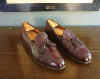 ESSENTIAL Vintage Alden New England Burgundy Calfskin Tassel Moccasin 663 Loafers 10 A / C. Made in USA.