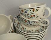 Vintage Shenango, floral, restaurant ware, coffee, tea