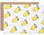 Lemon Blank Folding Card