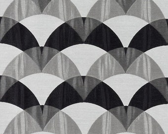 Modern Black And White Upholstery Fabric Contemporary Grey White Curtains Abstract Drapery Geometric