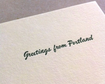 GREETINGS FROM PORTLAND letterpress card