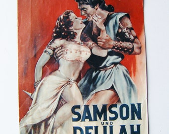 1940's Samson Und Delilah Publication Brochure On Making Of The Movie Actual Photos More