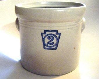 25% Off Storewide Sale 1960's Pfaltzgraff Yorktowne Crock Number Two Retired Piece
