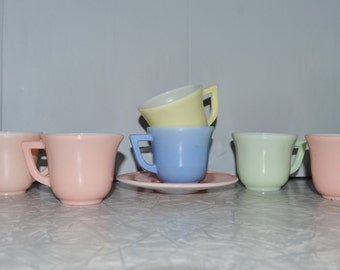 Hazel Atlas Little Hostess Tea Set ~ Childs Tea Set ~ Vintage Toys ~ Epsteam