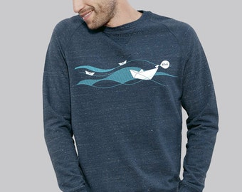 "Sweater Dark Heather Denim ""Ahoi"""