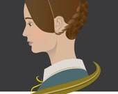 Jane Eyre / Formidable Women in Literature Art Print