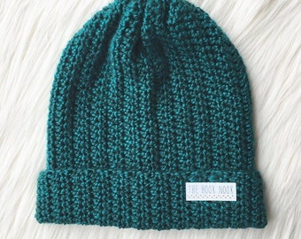 Crochet Fold Over Brim Beanie PATTERN