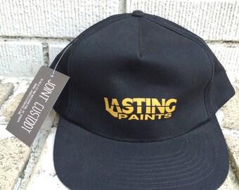 Vintage LASTING PAINTS Snapback Hat Adjustable Strap Hardware Work House Interior Design