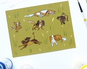 King Charles Cavalier Set of 5 cards