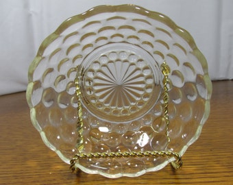Vintage Scalloped Glass Bowl
