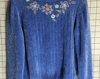 Alfred Dunner Pastel Floral Knit Sweater