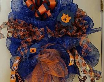 Auburn Tigers football wreath