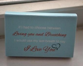 "75 Custom Designed Matchbox Wedding Favors - ""Loving You...and Breathing"""