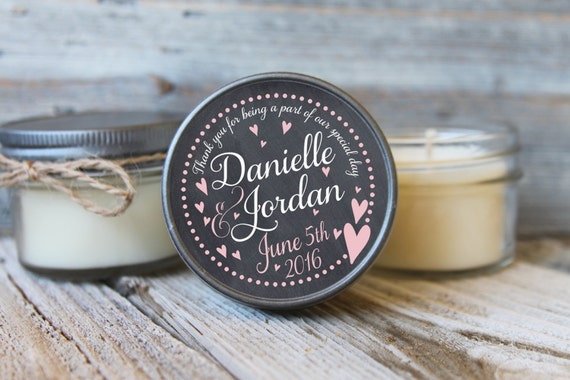 12 - 4 oz Bridal Shower Favor//Chalkboard Heart Favor//Soy Candle Favor//Personalized Bridal Shower Favor//Shower Favor//Candle Favors//