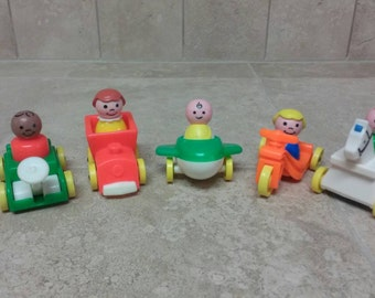 Vintage Fisher Price Little People Play Family Little Riders
