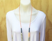 ON SALE Graded Bead Necklace - Silicone Necklace
