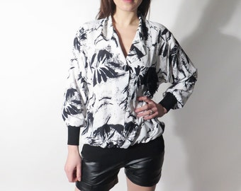 Vintage White Black Abstract Shirt
