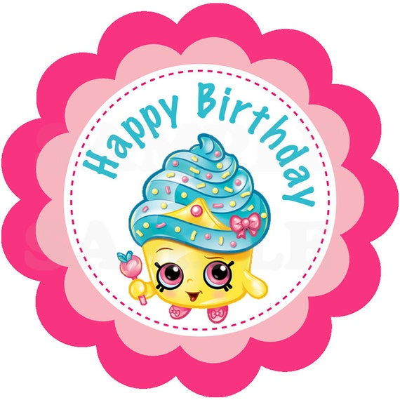 Items Similar To Cute Shopkins Girls Birthday Party