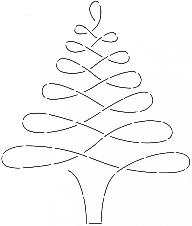 NOTION-Stencil: Large Christmas Tree Quilt Stencil 896QC