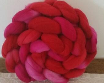 Wool Roving- Hibiscus