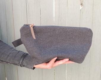 Men's Shaving Bag - Merino Wool- Luxury Dopp Bag - Travel Bag - Eco Travel Bag - Shave Kit - Canvas