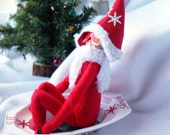 Elf Sled for Christmas Elf Doll to Slide around the North Pole and Spy on little Children