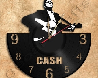 Cash Wall Clock Vinyl Record Clock home decoration housewares Upcycled Gift Idea