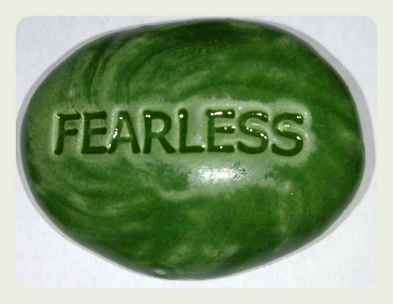 FEARLESS Pocket Stone Ceramic Kelp Forest Green Art Glaze