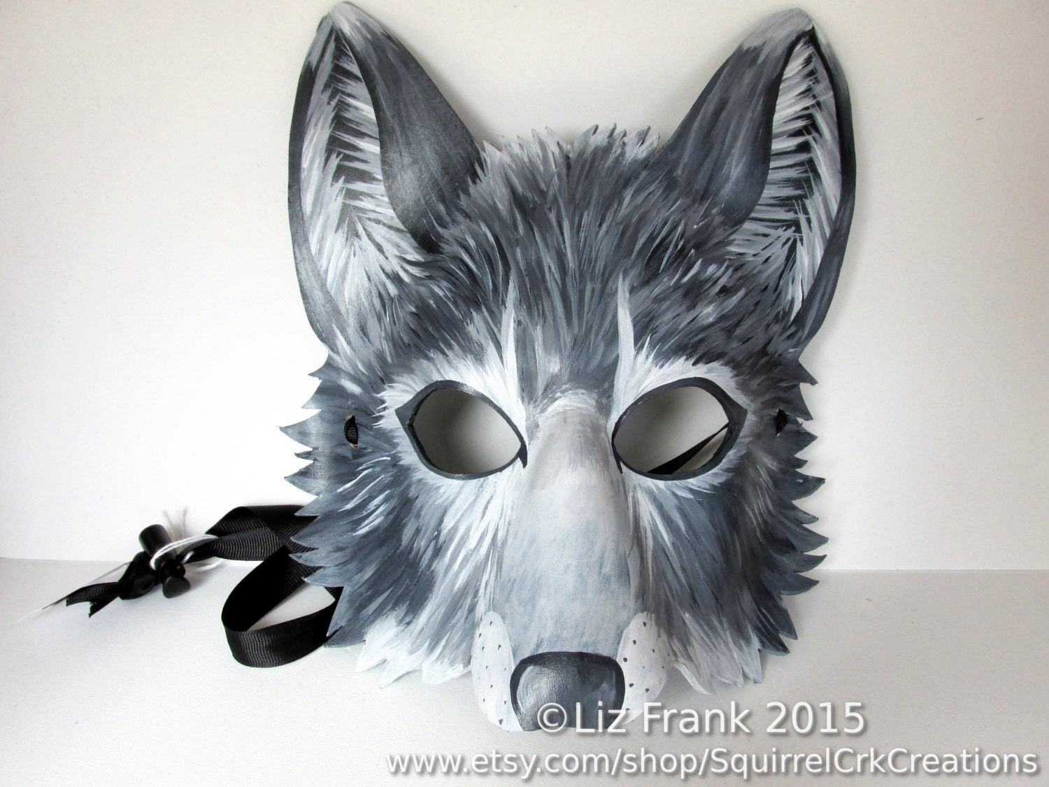 leather wolf mask gray wolf animal mask grey wolf fursona. Black Bedroom Furniture Sets. Home Design Ideas