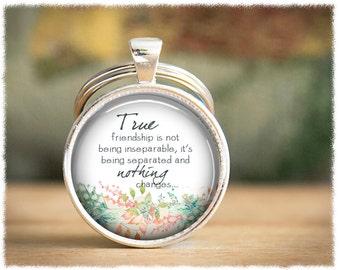 Long Distance Friendship Gift • Best Friend Keychain • Friendship Keyring • Gift For Her • Best Friend Gift