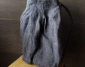 Blythe Doll Outfit /  1/6 doll size /  cropped pants/espresso brown
