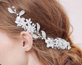 Bridal Headpiece, Style #512B