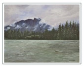 Fine Art Card, Kootney Mountians, blank inside
