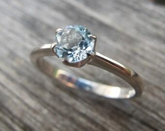 Lovely Blue Topaz Rings- Topaz Rings- Topaz Stackable Rings- December Birthstone Rings-Solitaire Rings- Silver Stone Rings- Blue Stone Rings
