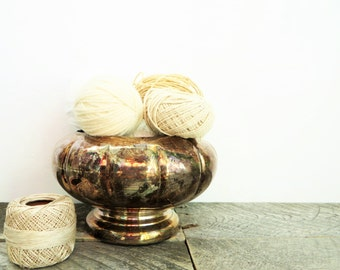 Pretty Silver Bowl - Tarnished Silver Decor - Perfect Patina - Elegant Vintage Decor