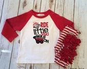 You Can't Ride in my Little Red Wagon raglan shirt-M2M Sew Sassy peppermint- m2m Sew Sassy res- m2m sew sassg black
