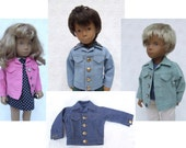 Choice of Colour  Cord or Denim Jacket for 16 or 17 Sasha doll