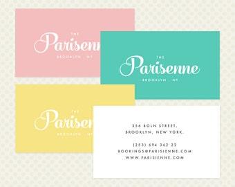 Mixed Color Business Card Design. Elegant Modern Branding Pastel Muted Business Card Design Multicoloured Multicolored Business Card Set