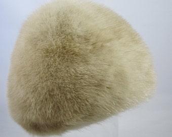 Designer Hat, Reggi of Wilshire, Honey Blond Mink, Elegant 1960s, Retro, Vintage