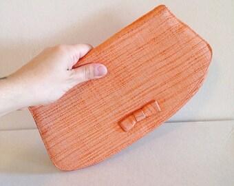 Sweet Little Vintage Orange Cloth Clutch