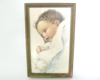 Bessie Pease Gutmann Print,Love's Blossom Print, Vintage Nursery Art, Vintage Baby Prints, Nursery Decor,Vintage Bessie Pease Guttmann Print