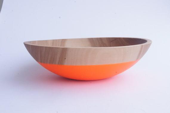 """Large 12"""" Wooden Salad Bowl By Willful, fruit bowl, salad bowl, pasta bowl, wedding gift"""