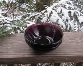 newport hairpin depression glass by jeanette, 2 cereal soup bowl amethyst