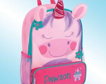 Backpack - Personalized and Embroidered - Sidekick Backpack - UNICORN