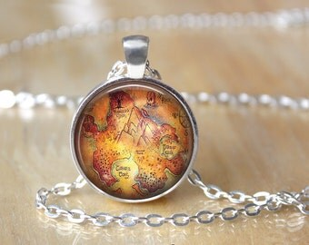 Peter Pan Necklace - Neverland Necklace - Literary Gift - Book Lover Gift - Book Necklace L66