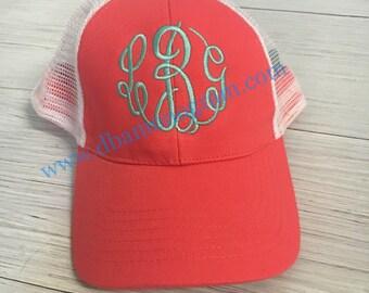 Monogram TRUCKER  Hat, Monogram Trucker Hat, Monogram Cap, Monogram Baseball Cap
