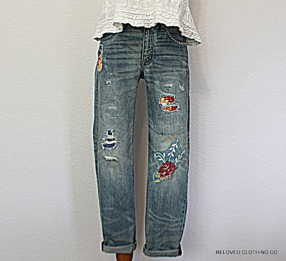 Lastest 2015 Spring Women Tattered Jeans Feet Pencil Pants For Women YF472